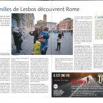 2016-04-28 Les familles de Lesbos découvrent Rome (Echo Magazine)
