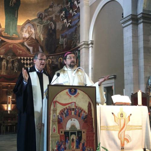 Mgr Jean-Pierre Delville et le pasteur Martin Hoegger