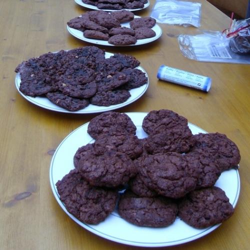 Et voici le résultat final : des cookies que nous allons vendre au marché à Lausanne samedi 31 août.
