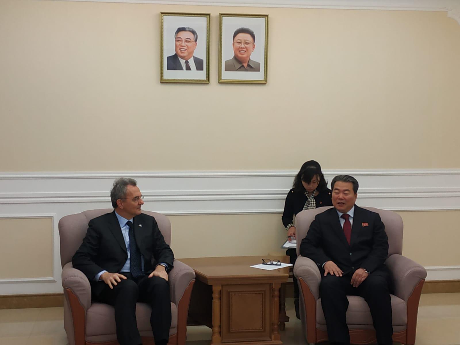 Con il vice ministro degli Esteri Im Chon Il