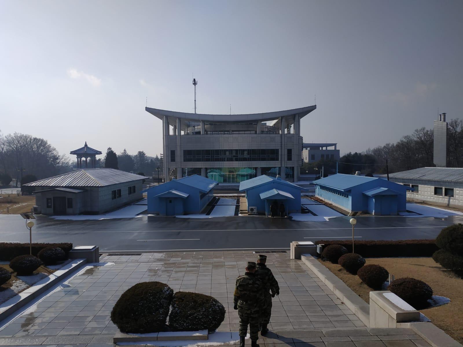 Il confine tra le due Coree a Panmunjom